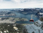 De nieuwe kabelbaan 'Dragon Ride' naar de Pilatus, bij Luzern © Pilatus Bahnen AG/ Urs Wyss